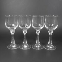 American Stemware PRINCETON Cordial Glasses Set of 4 Clear Crystal Glass