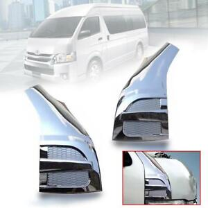 For 05+ Toyota Hiace Commuter Chrome Honeycomb Door Pillar Cover Trim ABS