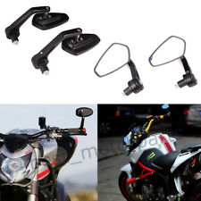 """BLACK MOTORCYCLE 7/8"""" BAR END MIRRORS FOR DUCATI MONSTER 696 796 1100 1200 821"""