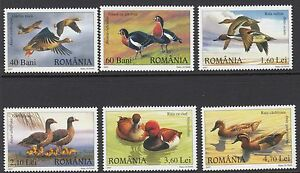 BIRDS :ROMANIA 2007 Ducks and Geese set SG 6808-13 never-hinged mint