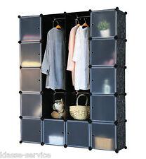 Regalsystem Badregal Schrank Regal Kleiderschrank Garderobe - schwarz Dekor