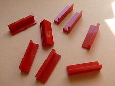 Lego 8 panneaux rouges set 4645 4644 3061 7734 / 8 red panels