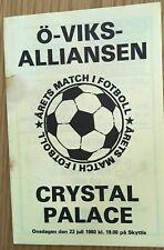 More details for oviksalliansen v crystal palace 1980/81 pre season friendly