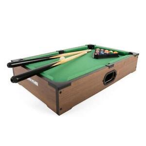 "Power Play Kids Pool Billiard Snooker Indoor Table Top Game - 20"" TY5894DB"