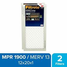 Filtrete 12x20x1, Ac Furnace Air Filter, Mpr 1900, Healthy Living Ultimate Aller