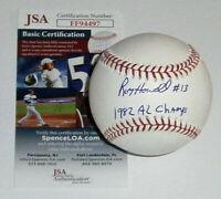 BREWERS Roy Howell signed baseball w/ 1982 AL Champs JSA COA AUTO Autographed