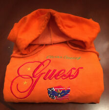 Vintage GUESS by George Marciano Classic Clothes Hoodie Sweatshirt Orange XL