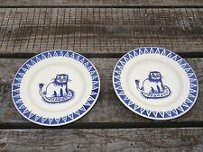 "Collectable Emma Bridgewater Spongeware 8.5"" Plate x 2 - Mary Fedden Lions"