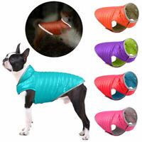 New Reflective Pet Dog Jacket Vest Reversible Down Jacket Puppy Cat Coat Costume