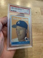 Mickey Mantle PSA 9 Topps Finest #8 Yankees Man Cave 1996 Collector Card INVEST
