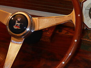 "Sunbeam Alpine Tiger Steering Wheel 15"" Rare Nardi Model Orig Horn Push Hub Boss"