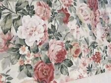 """CROSCILL HOME ROSE COVERED BLOUSON WINDOW VALANCE~44"""" x 18""""~Cotton Blend~Cottage"""