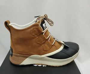 Sorel Womens Out N About III Classic Waterproof Duck Boots 6.5 Shoes Taffy/Black