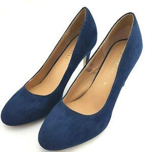 Corelli Designer Women's Blue Suede Monicas Court High Heel Shoes Size 7