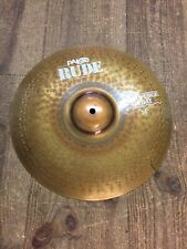 """USED PAISTE RUDE 14"""" HI HAT CYMBAL TOP CRACKED"""
