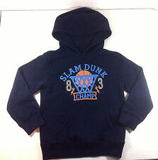 Jumping Beans Girls Over the Head Black hooded Sweatshirt Basketball Size M5 6