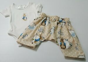Peter Rabbit romper and long pants Outfit