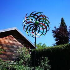 JENNY großes Windrad Windspiel Metall 186cm Ø46cm inkl. Solar Leuchtkugel
