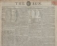 "RARE ORIGINAL NEWSPAPER ""THE SUN""(7 June 1800)NELSON-COSBY-ENSHAM-SCARGILL-TYSON"