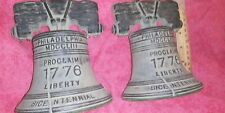 Virginia metalcrafters Liberty Bell Book Ends