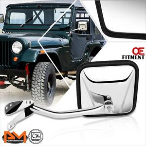 For 60-86 Jeep CJ3/CJ5/CJ6/CJ7 OE Style Manual Side Rear View Door Mirror Left
