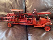 RARE Original Keystone Ride Em' Water Tower Pressed Steel Fire Truck
