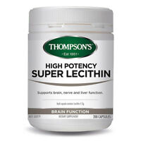 THOMPSON'S HIGH POTENCY SUPER LECITHIN 200 CAPSULES BRAIN NERVE LIVER SUPPORT