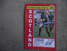 1987   Scotland v Hungary  -  International  Match