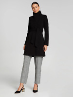 Portmans Ladies Finland Funnel Neck Coat sizes 6 8 10 12 Colour Black