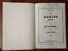 """PARTITION ANCIENNE Opéra de D.F.E AUBER """"Le domino noir"""""""