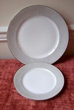 1 DINNER PLATE +1 SALAD PLATE ROSENTHAL PLATINUM GRAIL (MORE AVAIL)GERMANY GRAY