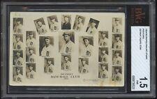 1934 Detroit Tigers Sheet Post Card with Hank Greenberg Mickey Cochrane Goslin