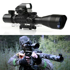 Tactical 4-12X50 EG Rifle Scope with Holographic 4 Reticle Sight & Red Laser JG8