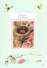 Friendship Butterflies & Bird Nest Butterfly By Marjolein Bastin Hallmark Card