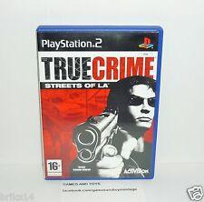 JEU PS2 COMPLET TRUE CRIME STREETS OF LA