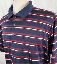 Adidas Climacool Golf Shirt Performance Polo Mens XL Blue Maroon Butler National