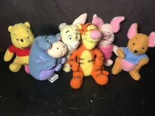 GUND Pooh 100 Acre Collection - LOT of 6 plush - Pooh Eeyore, Piglet Tigger