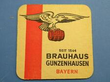 Beer Pub Coaster ~ Brauhaus zum Adler Gunzenhausen Pils; GERMANY ~ Horse, Eagle