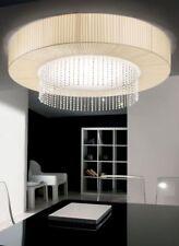 Rossini Brillo 600 pounge plissè beige lampada a soffitto / plafoniera 60cm