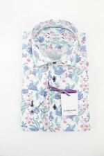 Giordano green blue floral pattern long sleeve shirt M RRP80 FR03