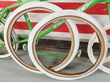 """2 WHITE SKINWALL 20 x 1.75"""" CHENG SHIN Bicycle TIRES for Old School GT BMX Bike"""