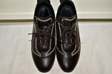 TODS Lace Up Flat Sneakers Leather/Suede Shoes Women's 36.5