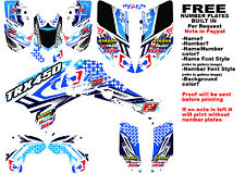 TRX450R LOGO NINETYSIX GRAPHIC KIT BLUE FULL WRAP 04-05 HONDA 450 TRX450
