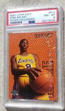 1996 Upper Deck Exclusives Kobe Bryant ROOKIE RC #R10 PSA 8 NM-MT+💎💎HOF🏀