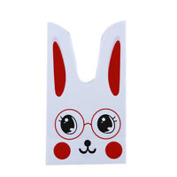 Candy Gift Packs Long Bunny Rabbit Ears Cookies Snacks Plastic Party Bags W