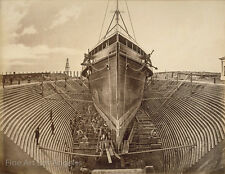 "Eadweard Muybridge Photo, ""Steamer in Dry Dock"" 1870s"