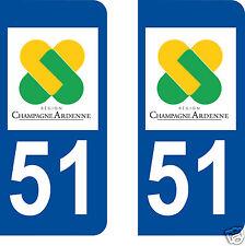 stickers autocollants plaques immatriculation auto Département Marne 51