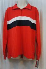 Izod Realizar Hombre Informal Camiseta de rugby talla G Alto Riesgo Rojo PIQUE