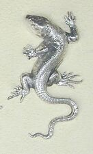 ART NOUVEAU STILE SILVER PLATED LIZARD SPILLA. elegante e inusuale e Smart