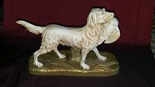 V RARE ART DECO CROWN DEVON FIELDINGS GUN DOG RETRIEVER  interesting backstamp